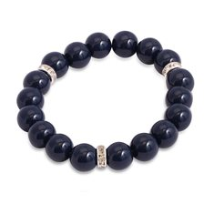 Pearl Decorative Scrunchi navy
