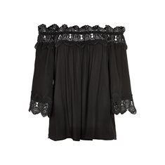 Blus Bea Lace  Pitch black