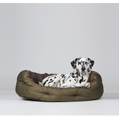Quilted Dog Bed Olive 35""