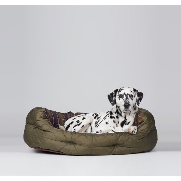 "Quilted Dog Bed Olive 35"" L"