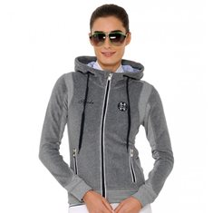 Fleecetröja Sporty Hood  Grey