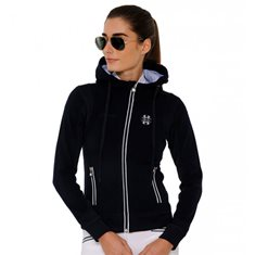 Fleecetröja Sporty Hood  Navy